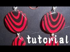 Fimo Tutorial: Orecchini ondulati facili facili - YouTube