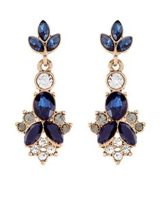 Ellie Stone Mini Statement Earrings | Blue | Accessorize