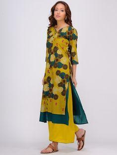 Multicolor Printed Layered Cotton Kurta