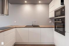 KĘPA MIESZCZAŃSKA WROCŁAW_02 - Średnia otwarta zamknięta kuchnia w kształcie litery u, styl nowoczesny - zdjęcie od PRACOWNIE WNĘTRZ KODO
