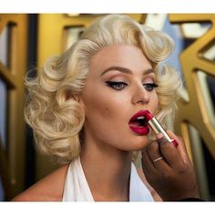 Candice Swanepoel with #MarilynMonroe inspired @maxfactor makeup.