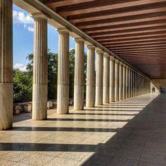 Stoa of Attalus, Ancient Agora of Athens  #athens (stoa of attalos) #greece