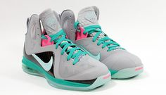 buy online 4e32c 32645 Special Milano   Nike Basket   Elite Series South Beach Lebron 9 P.S. Elite  Wolf Grey   Mint Candy New Green Pink   Sneakers
