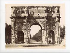 Arc de Constantin vintage albumen Tirage albuminé 18x24 Circa 1870