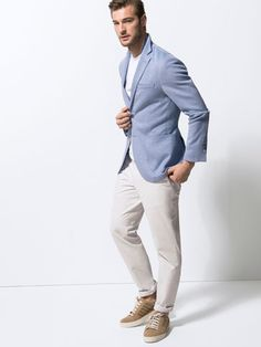 Blazer outfit men, blue sneakers outfit, light blue blazers, blazer out Blue Sneakers Outfit, Blue Blazer Outfit Men, Sky Blue Blazer, Light Blue Blazers, Blazer Outfits Men, Outfits Hombre, Blazer Fashion, Sport Outfits, Mens Fashion