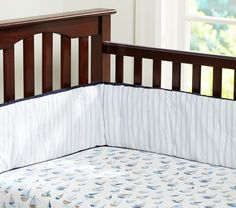 Row Your Boat Crib Sheeting | Pottery Barn Kids