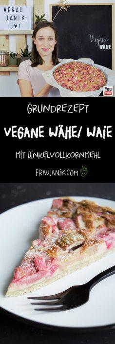 Vegane Wähe/ Waie Grundrezept | gesund gesunde vegane Rhabarberwähe süß - sauer, fruchtig & vegan... #rhabarber #gesund #vegan #gesundbacken #kuchen #rhabarberkuchen #wähe #waie #mürbeteig #frühling #kuchenteig #grundrezept #fraujanik