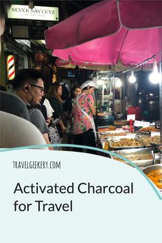 Activated charcoal for travel: While there are many activated charcoal uses such as for stomach, the teeth etc., we'll focus on activated charcoal use for traveler's diarrhea. This article explains what activated charcoal is, why activated charcoal capsules are best for travelling and where to buy activated charcoal. Keep your stomach happy even when traveling the world! #activatedcharcoal #travel #diarrhea #travelersdiarrhea #bloating #foodpoisoning #travelgeekery Best Shoes For Travel, Best Travel Gifts, Travel Tips For Europe, Activated Charcoal Uses, Activated Charcoal Capsules, Travel Items, Travel Products, International Travel Tips, Discount Travel