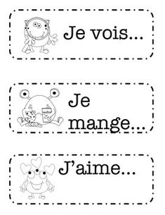 Freebie of French sentence starters for a writing center. I have students use a dictionary to finish the sentences. They are encourage to write their own sentences with or without the cards. Sentence Prompts, Sentence Starters, French Sentences, English Sentences, Teaching French Immersion, Language Immersion, French Worksheets, Core French, French Classroom