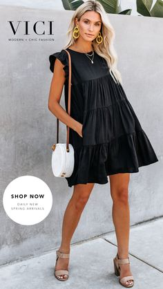 Chic outfit idea to copy ♥ For more inspiration join our group Amazing Things ♥ You might also like these related products: - Vests ->. Cute Dresses, Casual Dresses, Short Dresses, Fashion Dresses, Modest Fashion, Stylish Outfits, Cool Outfits, Summer Outfits, Summer Dresses