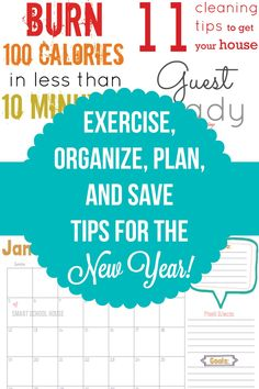 Exercise, Organize, Plan and Save For the New Year