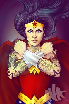 Tattooed Wonder Woman