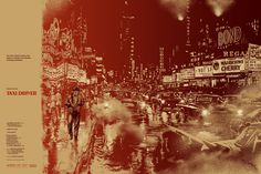 Compare Mondo's Cool Poster For Martin Scorsese's 'Taxi Driver' With The Original One Sheets Martin Scorsese, Taxi Driver, Cool Posters, Film Posters, Theatre Posters, Art Posters, Vintage Posters, Laurent Durieux, Chauffeur De Taxi