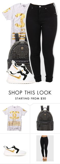 """Untitled #1597"" by ayline-somindless4rayray ❤ liked on Polyvore featuring MCM and NIKE"