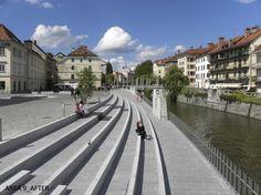 public space: Preureditve nabrežij in mostovi na Ljubljanici : Ljubljana…