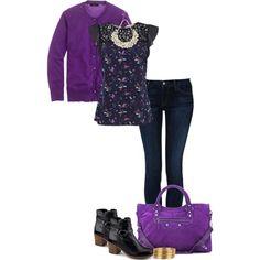 Purple & Navy!