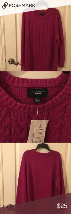Lands'end Pink Sweater 1X NWT Pink Sweater NWT 1X Lands' End Sweaters