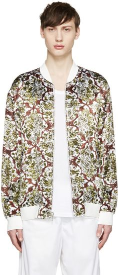 3.1 Phillip Lim White & Green Reversible Bomber Jacket