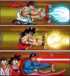Superman tente le Kaméhaméha…