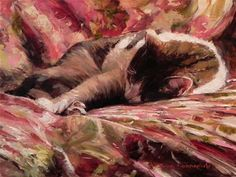 "Daily Paintworks - ""Afternoon Nap"" - Original Fine Art for Sale - © Jonelle Summerfield"