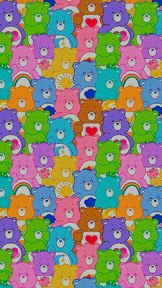 Retro Wallpaper Iphone, Hippie Wallpaper, Trippy Wallpaper, Iphone Wallpaper Tumblr Aesthetic, Bear Wallpaper, Iphone Background Wallpaper, Aesthetic Pastel Wallpaper, Cartoon Wallpaper, Hello Kitty Wallpaper