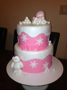 Winter Wonderland Baby Shower Cake
