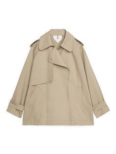 Short Oversized Trench Coat - Beige - Jackets & Coats - ARKET GB