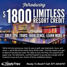 Introducing $1800 LIMITLESS Resort Credit at Hard Rock Resorts! Learn more about this amazing deal at: http://www.totallytrips.com/promotions/hardrock-1800-credit.php