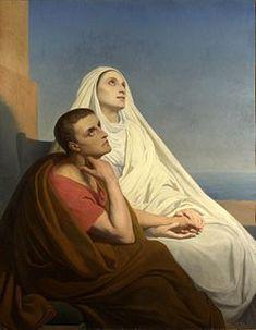 San Agustín y Santa Mónica (1846) por Art Scheffer Agustín de Hipona