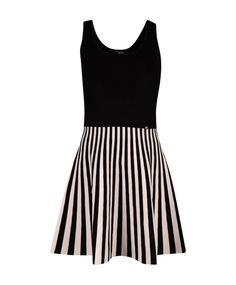 Liu Jo Siyah Beyaz Çizgili Elbise #elbise #dress #yazlıkelbise #summerdress #trikoelbise #triko #italyan #liujo #madeinitaly #fashion #trend #style #look #moda #2016modası