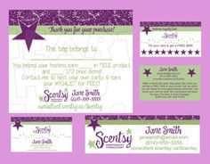 Scentsy business bundle CUSTOM printable digital business cards, bag tag, customer loyalty cards, and catalog labels :: My Heart Has Ears