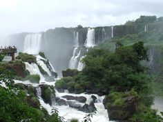 """Iguazu Falls from Iguazu National Park in Brazil. This is clearly now on """"The List."""" More incredible pictures of the same place if you click through."""