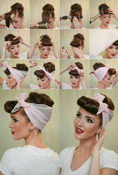 #pinupgirl #hairstyle #tutorial