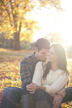 Fall engagement idea (only some men can pull off the plaid, maybe a navy-colored solid shirt instead?) My man can pull off plaid! 1!