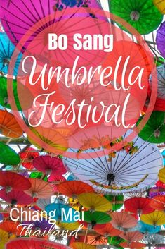 Bo Sang Village - Saa Paper Umbrella Making in the handicraft center of San Kamphaeng, Chiang Mai, Thailand...colorful parasols and souvenirs...best time to visit is the Umbrella Festival on the last weekend in January every year. See full details of festival:http://togetherinthailand.com/bo-sang-umbrella-festival-chiang-mai/