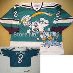 5643609d9 custom Throwback season Anaheim Mighty Ducks third Movie jersey Teemu  Selanne jersey Wild wing sew any no.