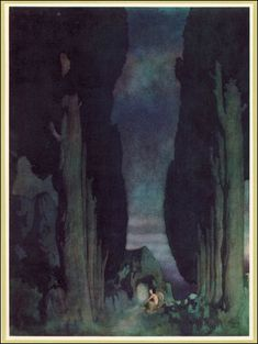 Edmund Dulac. The Bells and Other Poems by E.A. Poe, 1912.