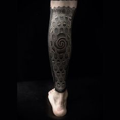 Calf Sleeve Tattoo