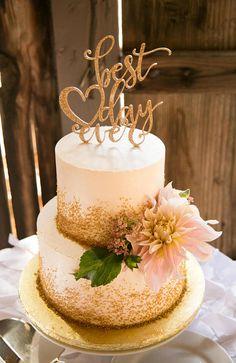 Wedding Cake Topper Best Day Ever Floating Topper Glitter Wedding Engagement Shower Cake Topper (Item - - Becca - Wedding Cakes 2 Tier Wedding Cakes, Diy Wedding Cake, Elegant Wedding Cakes, Beautiful Wedding Cakes, Wedding Cake Designs, Wedding Cake Toppers, Glitter Wedding Cakes, Rustic Wedding, Elegant Cakes
