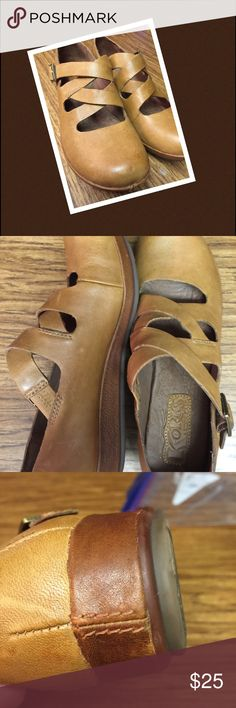 KORKS, camel shoes size 6.5 /7 These were warn once, pERFECT CONDITION!!, size 6.5/ 7 Korks - Easy Shoes Flats & Loafers