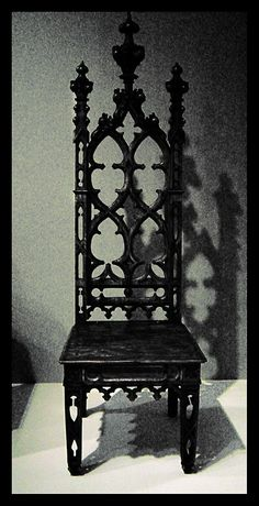 Lovely black gothic high backed chair. #black #chair #gothic