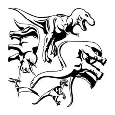 "Style and Apply Dino Set Wall Decal Color: Black, Size: 46"" H x 46"" W"