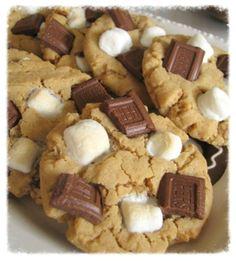 cookiescrumbsandchickens: Peanut Butter S'mores Cookies