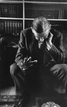 Sometimes things become possible if we want them bad enough • T.S. Eliot, Cambridge, 1956 • photo by John Loengard
