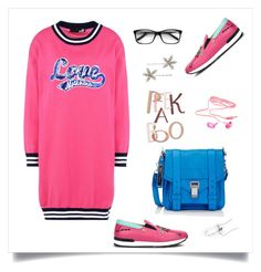 """love"" by tato-eleni ❤ liked on Polyvore featuring Love Moschino, Proenza Schouler, Charlotte Russe and Jennifer Behr"