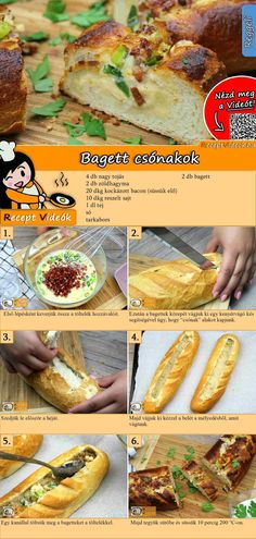 A tasty and quick idea for breakfast! The baguette boat recipe video is easy to find using the QR code 🙂 # Frühstück A tasty and quick idea for breakfast! The baguette boat recipe video is easy to find using the QR code 🙂 # Frühstück Sandwich Vegan, Sandwich Recipes, Dog Recipes, Chicken Recipes, Snack Recipes, 1000 Calories, Party Finger Foods, Le Diner, Vegan Breakfast Recipes