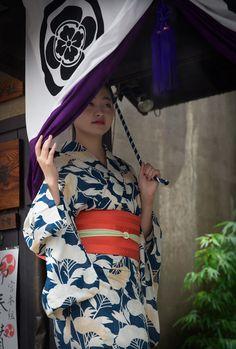 芸妓さんと舞妓さんのブログ — July 2015: geiko Satsuki peeking out of a noren by...