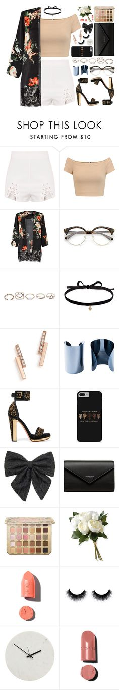 """15O. If I smile with my teeth, bet you believe me"" by misspyromaniac ❤ liked on Polyvore featuring Alice + Olivia, Miss Selfridge, GUESS, Joomi Lim, ZoÃ« Chicco, Maison Margiela, Alexander McQueen, Carole, Balenciaga and National Tree Company"
