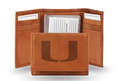 Miami Hurricanes Embossed Leather Trifold/Wallet