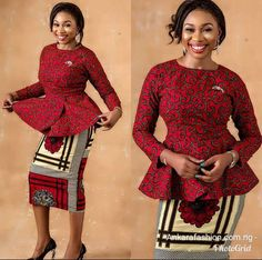 Ankara Addict, Check Out These Latest Pepulum Blouses-operanewsapp African Maxi Dresses, African Fashion Ankara, Latest African Fashion Dresses, African Dresses For Women, African Print Fashion, African Attire, African Wear, Ankara Mode, Ankara Stil
